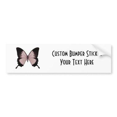 Big Sepia Orange & Black Butterfly Bumper Sticker