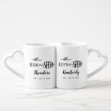 Big Spoon Little Spoon Anniversary Wedding Couples Coffee Mug Set