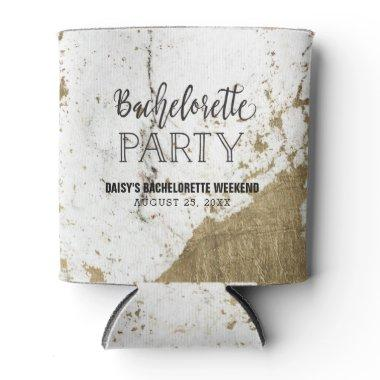 Black and Gold Marble Bachelorette Party Coozie