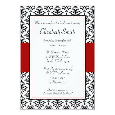 Black and Red Damask