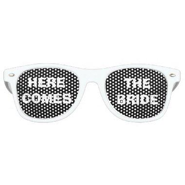 Black and White Bride's Party Eye Glasses