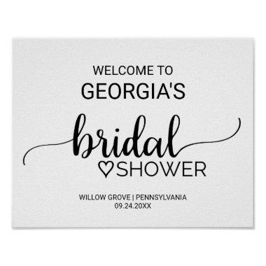 Black and White Calligraphy  Welcome Poster