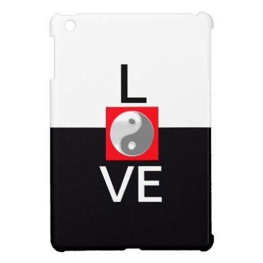 Black and White Cool Bride Love Wedding Yin Yang Case For The iPad Mini