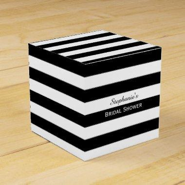 Black and White Striped  Favor Box