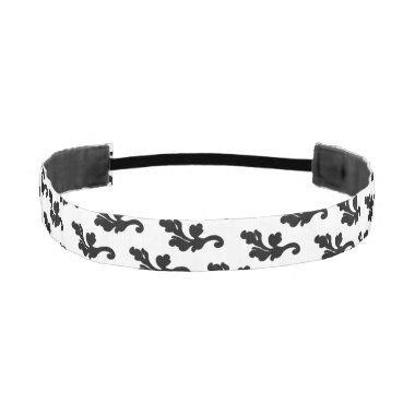 Black and white wedding athletic headband