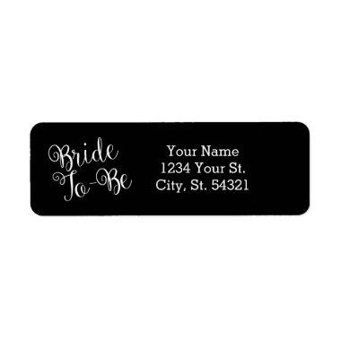 Black Bride to Be Address Labels