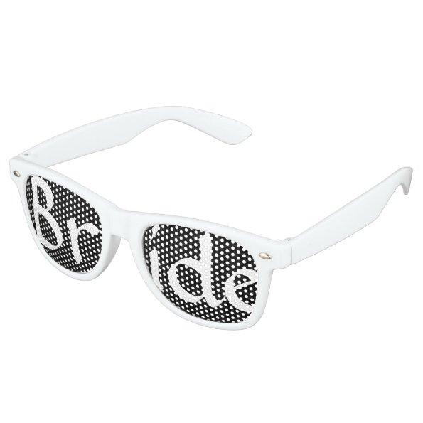 Black Damask Bride Fun Bachelorette Party Wayfarer Sunglasses
