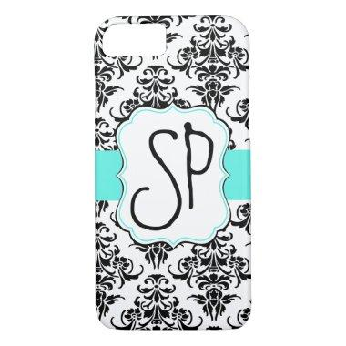 Black Damask Phone Case