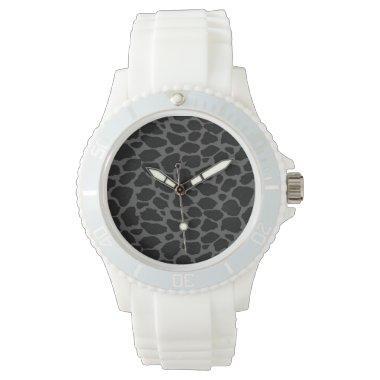 Black Leopard Animal Print Wrist Watches