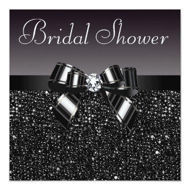 Black Sequins, Bow & Diamond