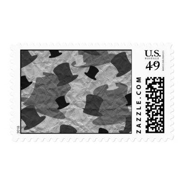 Black Top Hat Camo Postage