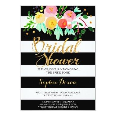 Black & White Bridal Shower Invitations