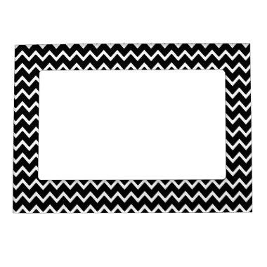 Black White Chevron Magnetic Photo Frame
