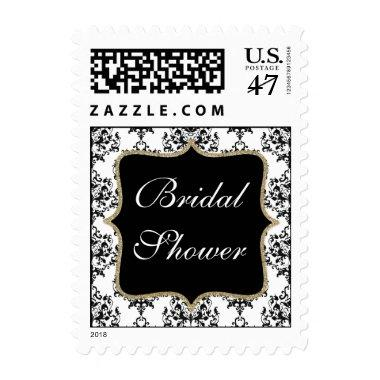 Black & White Damask  Stamp