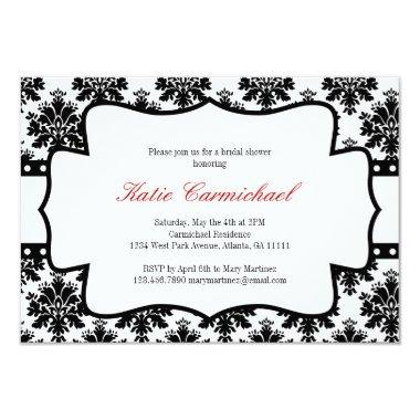 Black & White Damask