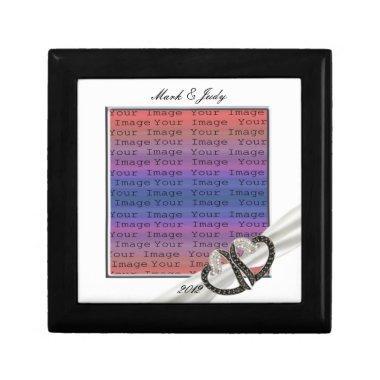 Black & White Diamond Hearts Gift Box