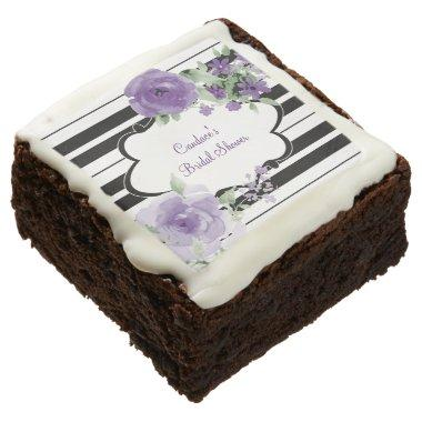 Black, White, flower  Chocolate Brownie