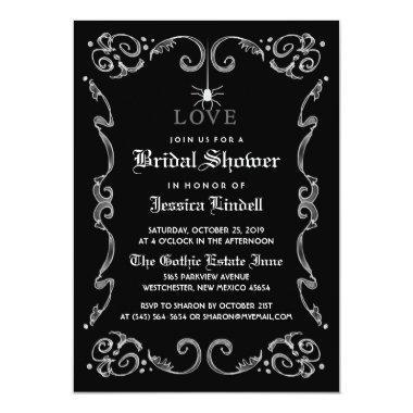 Black White Halloween Wedding Gothic