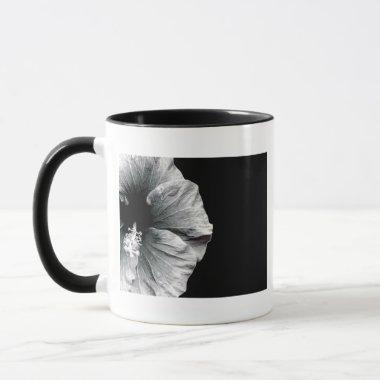 Black & White Hibiscus Flower Photography Mug