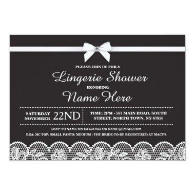 Black White Lingerie  Lace