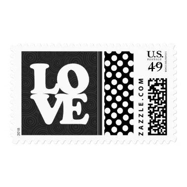 Black & White Polka Dots Postage