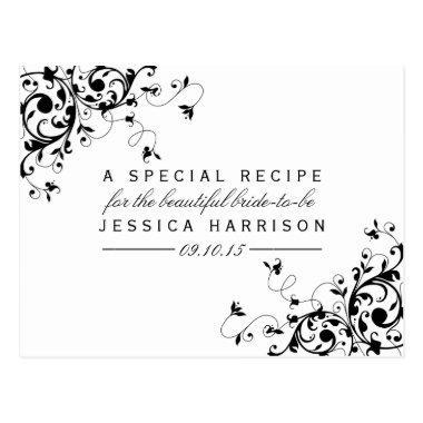 Black & White Swirls  Recipe