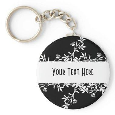 Blank Flower Label - Create Your Own Design Keychain