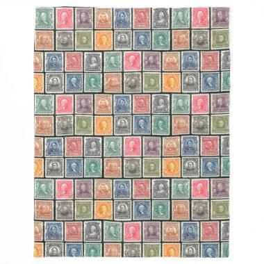 Blanket - Vintage Stamps Design - c. 1902 Stamps