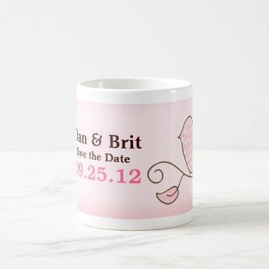 BLOSSOM TRENDY PINK BIRD PERSONALIZED Mug