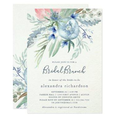 Blue and Pink Peony Bridal Brunch
