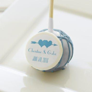 Blue and White Wedding Favor Cake Pop