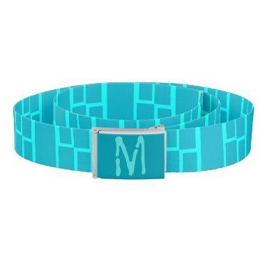 Blue Bamboo Monogrammed Belt