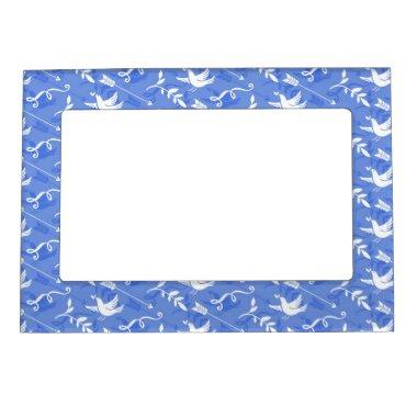 Blue Bird of Happiness / Blue Love Birds Magnetic Frame