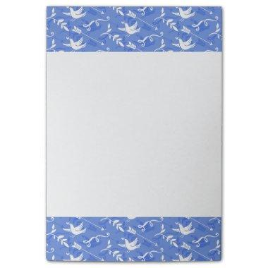 Blue Bird of Happiness / Blue Love Birds Post-it Notes