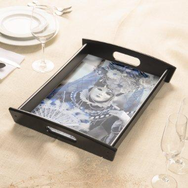 Blue Carnival Costume Serving Tray