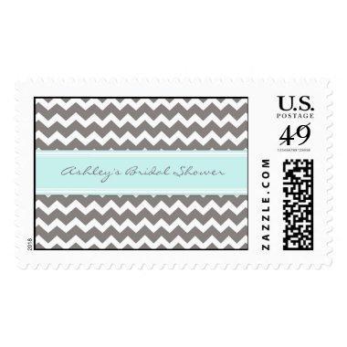 Blue Chevron  Wedding Stamps