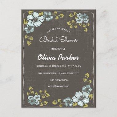 blue flowers invitation  post