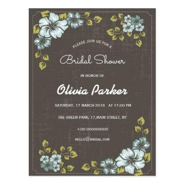 blue flowers invitation  post
