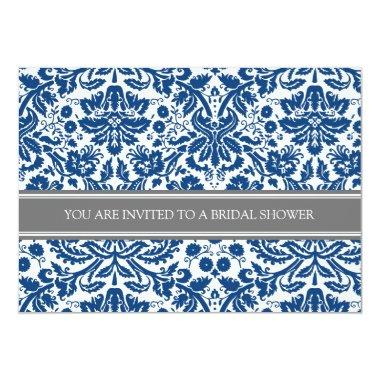Blue Gray Damask