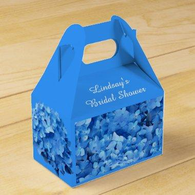 Blue Hydrangea Custom  Favor Box