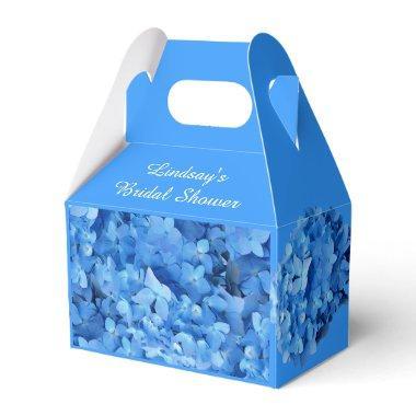 Blue Hydrangea Custom Bridal Shower Favor Box