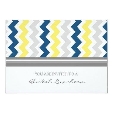Blue Lemon Gray Chevron Bridal Lunch