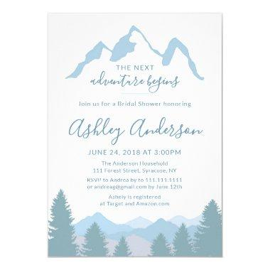 Blue Mountains Forest Bridal Shower Invitations