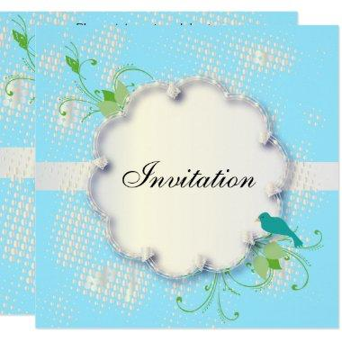 Blue Nature Design Party Template