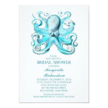 blue octopus nautical beach