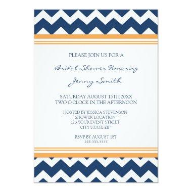 Blue Orange  Invitation