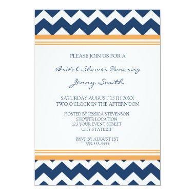 Blue Orange  Invitation