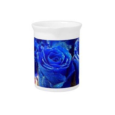 Blue Rose Pitcher