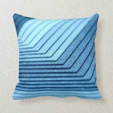 Blue Shades Patterned Pillow