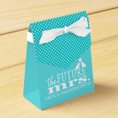 Blue The Future Mrs  Favor Box